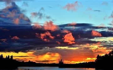 Quebec Sunset Mac wallpaper