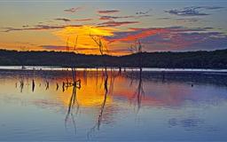 Sunset Reflection Clinton Lake Mac wallpaper