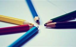 The Colorful Pencil Mac wallpaper