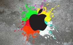 Colorful apple Mac wallpaper