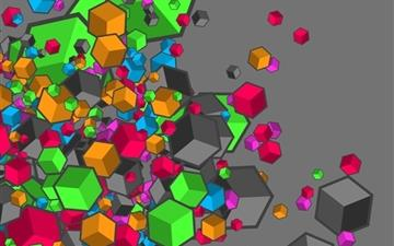Colorful Cubes Mac wallpaper