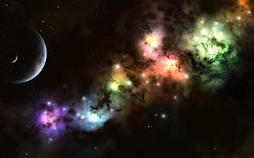 Colorful Cosmic Clouds Mac wallpaper