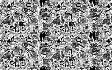 Comics black and white Mac wallpaper