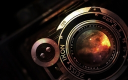 Space In Vintage Camera Lens Mac wallpaper