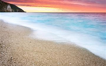 Fire Sunset At Beach Mac wallpaper