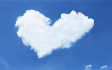 Heart Cloud Mac wallpaper