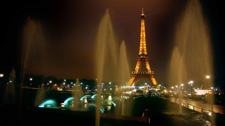 Fountains And Eiffel Tower Mac Wallpaper