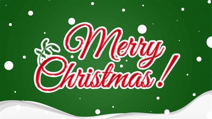 Merry Christmas Card Mac Wallpaper