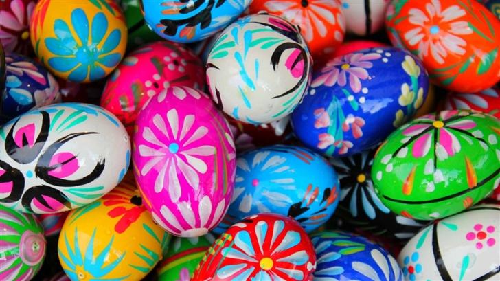 Polish Pisanki Easter Eggs Mac Wallpaper