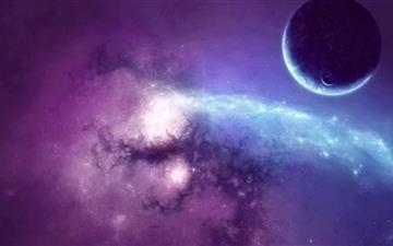Purple Nebula Mac wallpaper