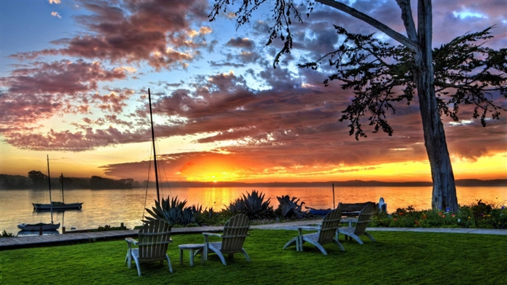 Sunset View Mac Wallpaper