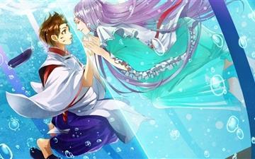 Anime Couple Mac wallpaper