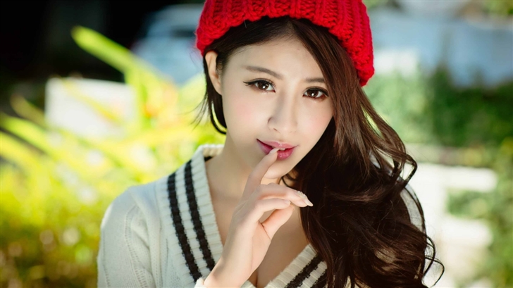 Asian girl Portrait Mac Wallpaper