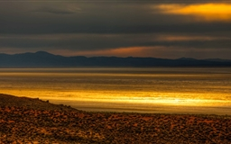 Black Rock Desert Sunset Glow Mac wallpaper