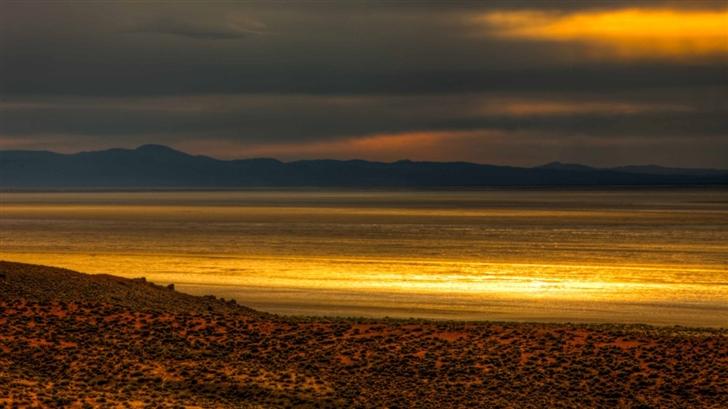 Black Rock Desert Sunset Glow Mac Wallpaper