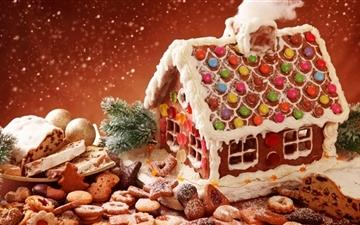 Gingerbread House And Cookies Mac wallpaper