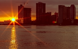 New York Sunrise Mac wallpaper