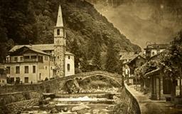 Old Mountain Village Europe Mac wallpaper