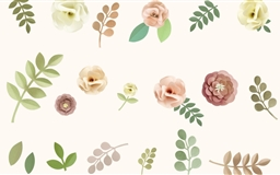 pastel Floral Background Mac wallpaper