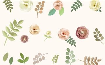 pastel Floral Background Mac wallpaper