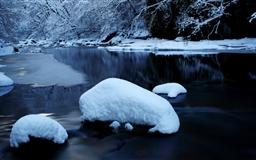 Forest River In Winter Mac wallpaper