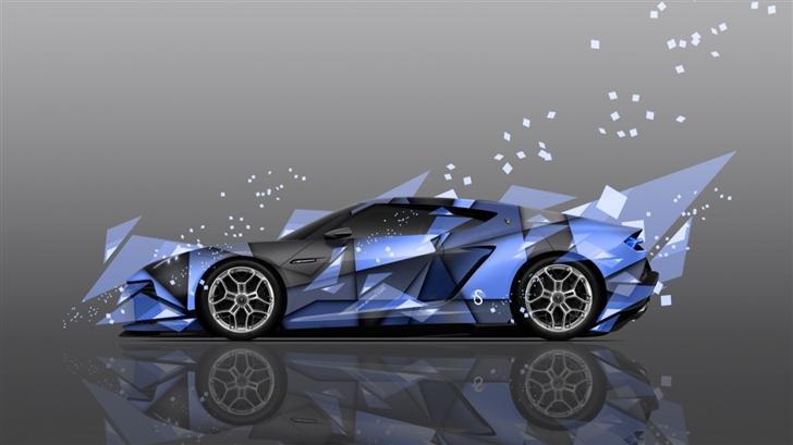 Lamborghini Asterion Side Abstract Mac Wallpaper