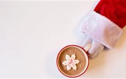 Santa Claus Hot Chocolate Winter Holidays Mac wallpaper