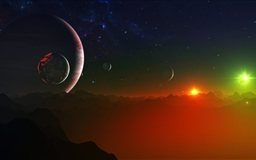 Space Fantasy Landscape Mac wallpaper