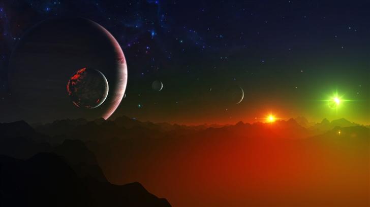Space Fantasy Landscape Mac Wallpaper