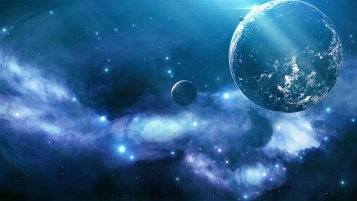 Blue Nebula Mac Wallpaper