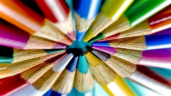 Colored Pencils Circle Mac Wallpaper