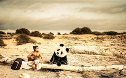 Panda Music Mac wallpaper