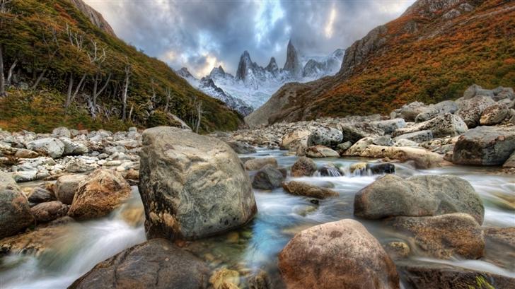 Mountain River In Argentina Mac Wallpaper