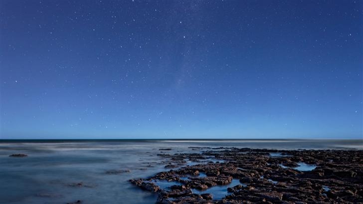 Ocean At Night Mac Wallpaper