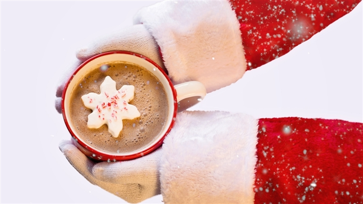 Santa Claus Hot Chocolate Mac Wallpaper
