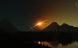 Solar Eclipse Mac wallpaper