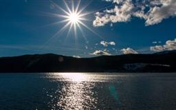 Afternoon Sun At Lake Mac wallpaper