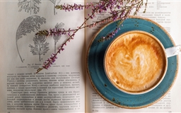 Cappuccino Old Botany Book Mac wallpaper