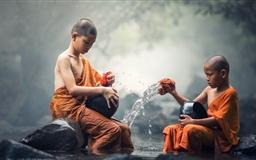 Children Buddhist Monks Mac wallpaper