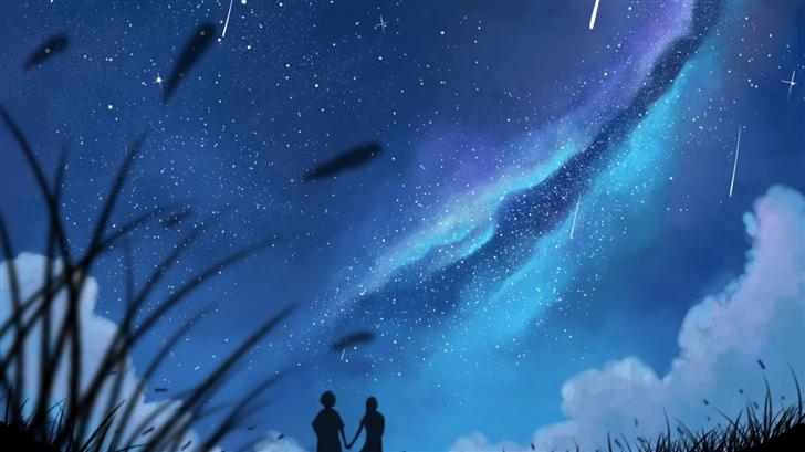 Shooting Stars In The Sky Mac Wallpaper