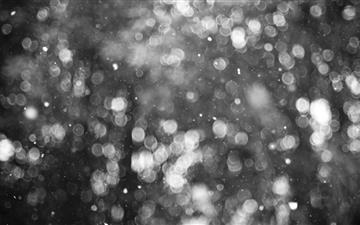 Snowflakes Bokeh Mac wallpaper