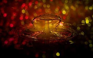 Water Drop Splash Mac wallpaper