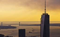 One World Trade Center Sunset Mac wallpaper