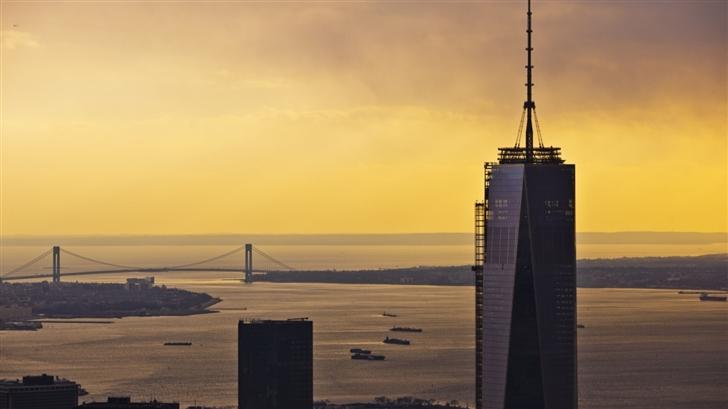 One World Trade Center Sunset Mac Wallpaper