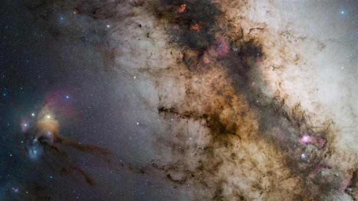 Part Of Milky Way Galaxy Mac Wallpaper