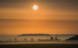Sunrise Morning Mist Mac wallpaper