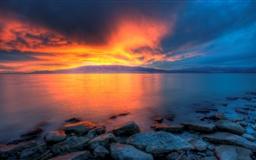 Utah Lake Sunset Mac wallpaper