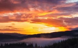 Sunrise Trossachs Mac wallpaper