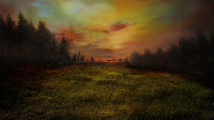Meadow Painting Mac Wallpaper