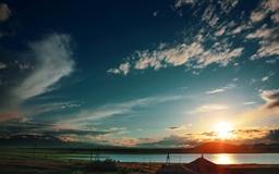 Armenia Sunset From Train Mac wallpaper